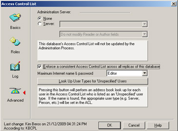 SecureOff Enforce a consistent Access Control List across all replicas of this database setting